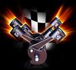Leinwanddruck Bild - motorsport