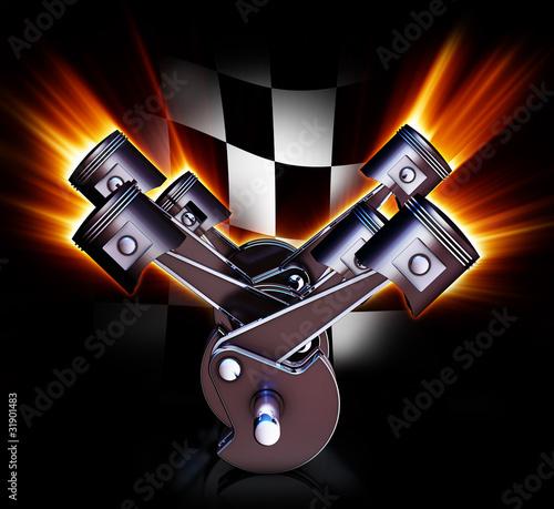 Leinwanddruck Bild motorsport