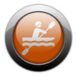 "Orange Metallic Orb Button ""Kayaking"""