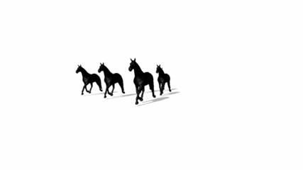 3d horse silhouette concept