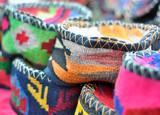 handmade genuine ethnic caps made of cloth poster