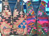 handmade genuine ethnic jackets made of colorful cloth poster