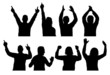 Silhouettes Of Partygoers (Isolated) (01)