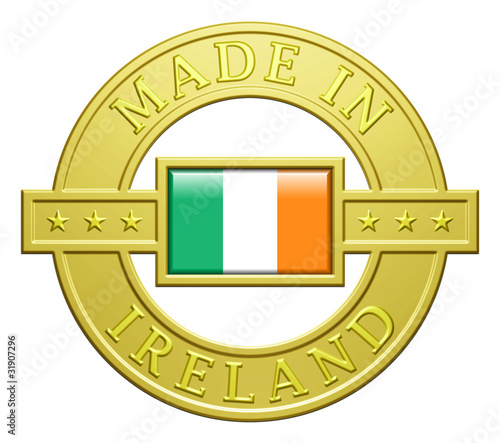"""Made In Ireland"" Golden Plate"