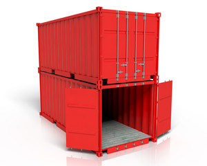 Iso Container Stapel offen