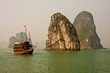 Boat in Beautiful Halong Bay