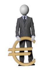 homme à l'Euro headman concept