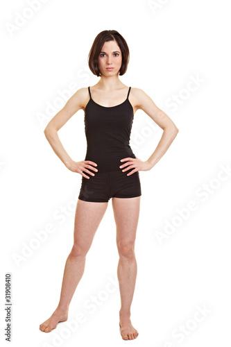 Schlanke sportliche Frau