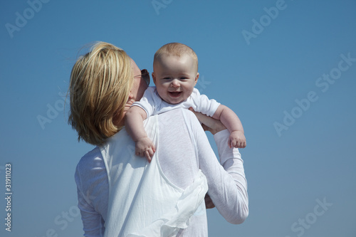 canvas print picture mutter mit baby