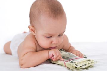 newborn and money