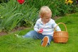 Blond Child with easter basket