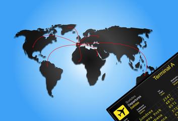 Fondo de aeropuerto y viajes