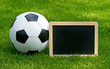 Fußball mit Kreide Tafel - Soccer and Chalkboard