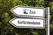 Wegweiser zum Zoo und Ku'damm
