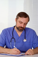 nice doctor writing