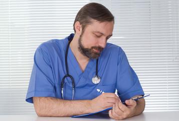 nice doctor sitting