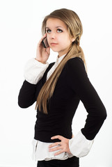 nice girl talking on the phone