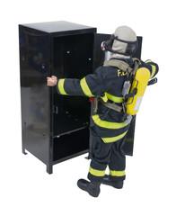 Fireman with Locker