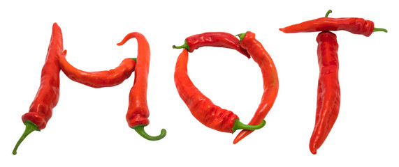 Hot text composed of chili peppers