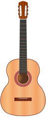 classic spanish guitar - vector