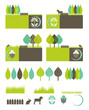 green, eco banners