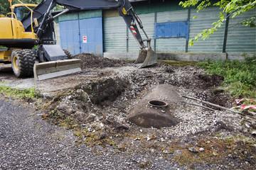 rimozione di una cisterna di gasolio