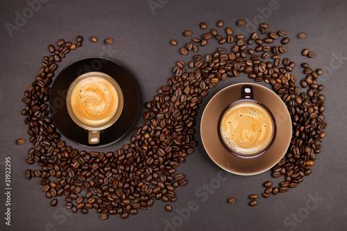 Deurstickers Cafe Tasses de Café
