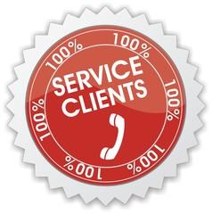 étiquette service clients