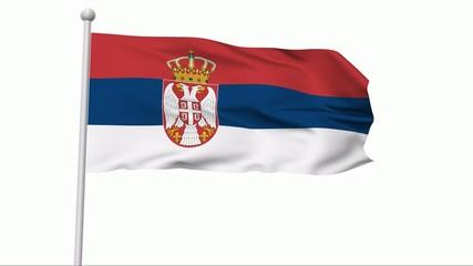 Fahne Serbien NTSC