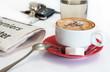 café et journal matinal