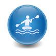 Esfera brillante simbolo kayak