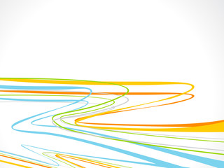 abstract colorful rainbow line wave background