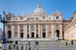 St Peter Basilica from square, Vatican, Italy