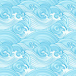 Japanese seamless waves pattern in ocean colors - 31927078