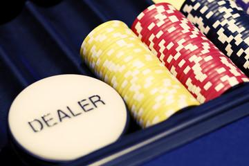 Card dealer place in casino