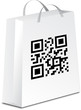 shopping bag with qr code