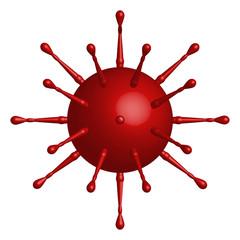 Red Virus Shape