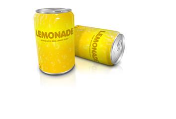 Lemonade cans