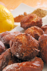 Fritters to be eaten traditionally during Lent season in Spain.