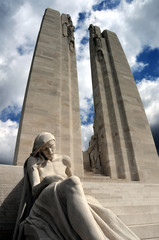 Canadian WW1 Vimy Ridge Memorial, France.