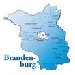 Brandenburg Übersicht blau in SVG