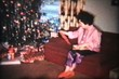 Opening Christmas Presents (1963 Vintage 8mm film)