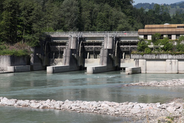 Hydroelectric power plant in Austria - Traun river