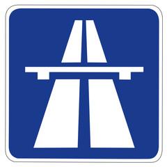 Autobahn Verkehrsschild