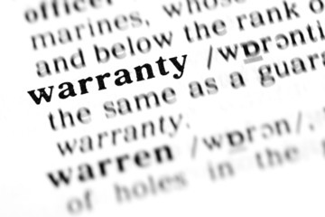 warranty (the dictionary project)