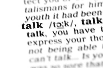 talk  (the dictionary project)