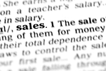 sales (the dictionary project)