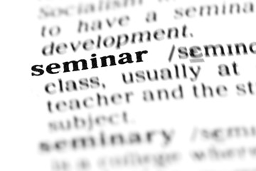 seminar (the dictionary project)