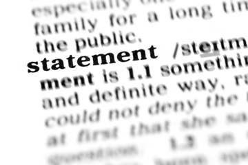 statement  (the dictionary project)