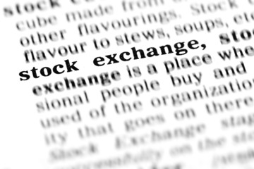 stock exchange  (the dictionary project)